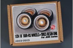 1/24 18' BBS-RS Wheels & Tires - HD03-0503