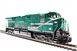 """N Gauge GE AC6000 GE Demo No. 6000 """"Green Machine"""" - 3428"""