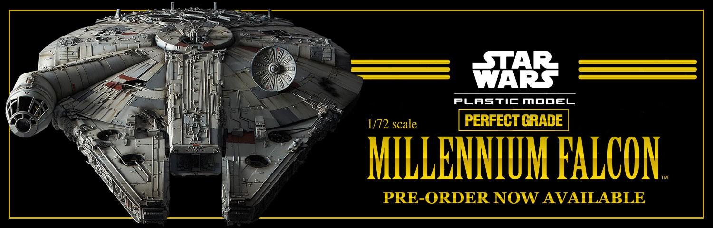 Pre-Order Bandai Star Wars 1/72 PG Millennium Falcon