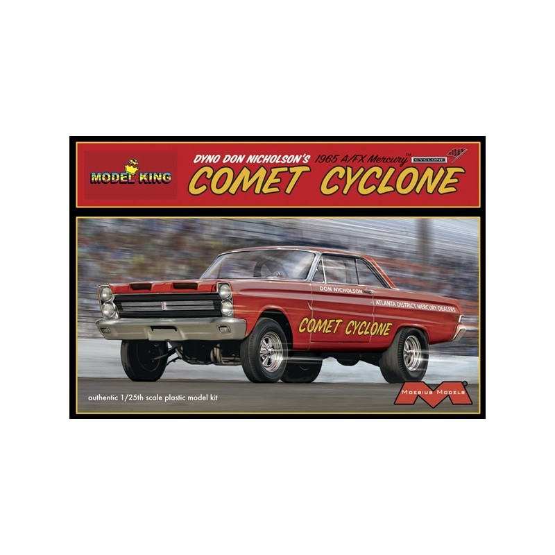 Moebius 1238 Dyno Don Nicholson/'s 1965 A//FX Mercury Comet Cyclone model kit 1//25