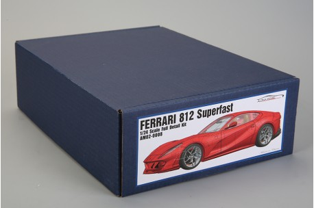Alpha Model Ferrari 812 Superfast Model Kit 1 24 Scale Am02 0008 Up Scale Hobbies