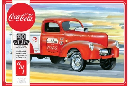 AMT Coca-Cola 1940 Willys Gasser Pickup Truck Model Kit - 1/25 scale