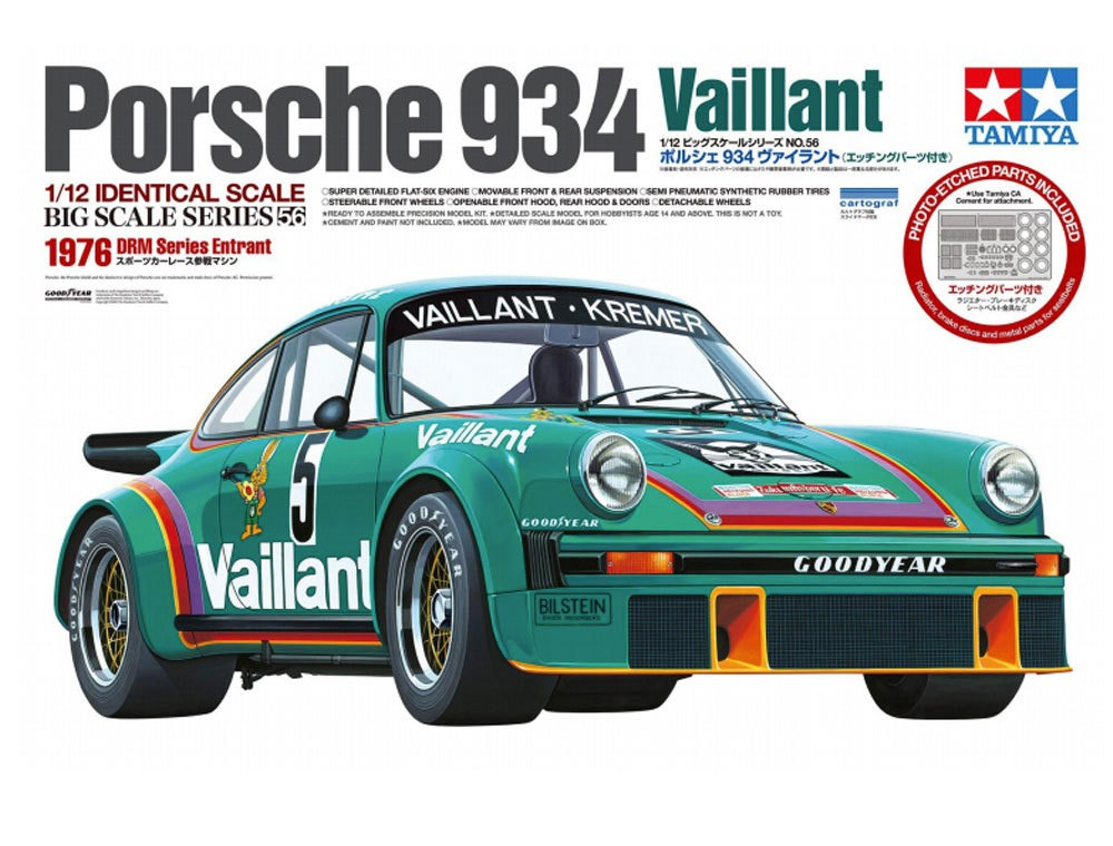 PORSCHE 934 TURBO 1976 VAILLANT DECALS 1//43