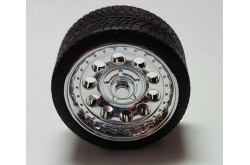 Pegasus Hobbies 1/24 Chrome Magnums Rims W/Tires - 1286