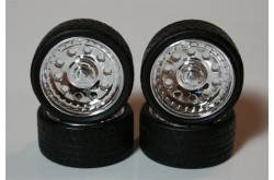 "Pegasus Hobbies 1/24 Chrome  23"" Magnums Rims W/Tires - 2312"