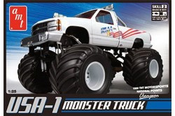 1/25 USA-1 4x4 Monster Truck - AMT 632