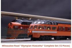 "N Scale Milwaukee Road ""Olympian Hiawatha"" Complete Set"
