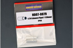 1/24 Exhaust pipes 120mm (2 PCS)
