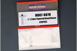 1.2mm Tapered Head Rivets (20 PCS) - HD07-0078