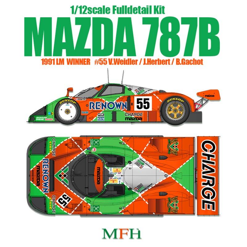 MFH 1/12Full Detail Mazda 787B | K628 - Up Scale Hobbies