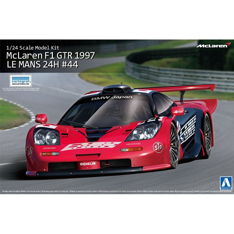 aoshima 1 24 mclaren f1 gtr 1997 le mans 24h gulf no 44 00751 up scale hobbies. Black Bedroom Furniture Sets. Home Design Ideas