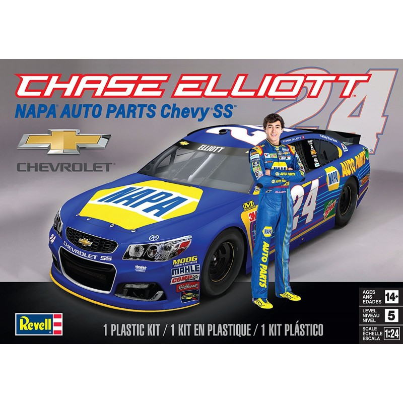 revell 1 25 chase elliott napa auto parts chevy ss 85 4222 up scale hobbies. Black Bedroom Furniture Sets. Home Design Ideas