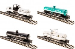 HO Scale 6000 Gallon Tank Car, Variety Set A, 4-pack - 6126