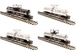HO Scale 6000 Gallon Tank Car, Variety Set A, 4-pack - 6127