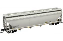 N Scale ACF 5250 4-Bay Covered Hopper, Atlantic and Western No.153135 - 50000625