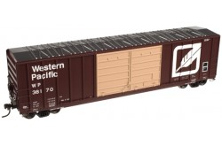 N Scale 50' FMC 5077 Double Door Centered Box Car, Western Pacific No.38126 - 50003081