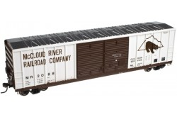 N Scale 50' FMC 5077 Double Door Centered Box Car, McCloud River No.2000  - 50003077