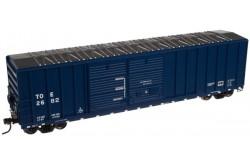 N Scale 50' FMC 5077 Double Door Centered Box Car, Texas Oklahoma and Eastern No.2782 - 500030874