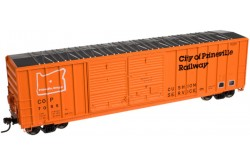 N Scale 50' FMC 5077 Double Door Centered Box Car, City of Prineville Railway No.7001 - 500030869