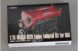1/24 Nissan RB26 Engine Full detail Kit For R34