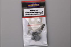 1/24 Brembo Brake System 3 (8 Piston Caliper And 400mm Disc) - HD03-0211