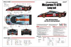 """1/24 Full Detail kit McLaren F1 GTR """"Long tail"""" Ver. A - K376"""