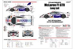 """1/24 Full Detail kit McLaren F1 GTR """"Long tail"""" Ver. B - K377"""