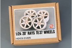 1/24 20' RAYS TE37 Wheels - HD03-0465
