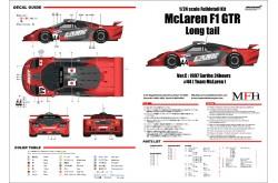 """1/24 Full Detail kit McLaren F1 GTR """"Long tail"""" Ver. C - K378"""
