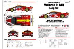 """1/24 Full Detail kit McLaren F1 GTR """"Long tail"""" Ver. D - K379"""