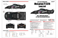 """1/24 Full Detail kit McLaren F1 GTR """"Long tail"""" Ver. E - K380"""