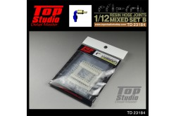 Top Studio 1/12 resin hose joints mixed set B - TD23184