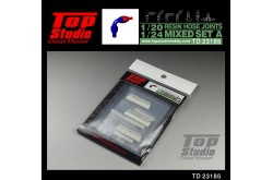 Top Studio 1/20-24 resin hose joints mixed set A - TD23185