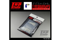 Top Studio 1/20-24 resin hose joints mixed set B - TD23186