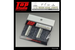 Top Studio 1/12  resin hose joints (1.2mm) - TD23188