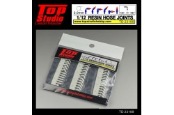 Top Studio 1/12  resin hose joints (2.0mm) - TD23189