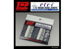 Top Studio 1/12  resin hose joints (2.5mm) - TD23190