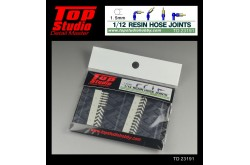Top Studio 1/12  resin hose joints (1.5mm) - TD23191