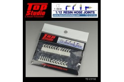 Top Studio 1/12  resin hose joints (1.8mm) - TD23192