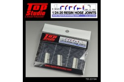 Top Studio 1/20 - 1/24 resin hose joints (0.9mm) - TD23194