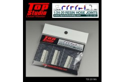 Top Studio 1/20 - 1/24 resin hose joints (1.2mm) - TD23195