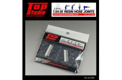 Top Studio 1/20 - 1/24 resin hose joints (0.9mm) - TD23198
