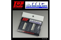 Top Studio 1/20 - 1/24 resin hose joints (1.1mm) - TD23199