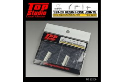 Top Studio 1/20 - 1/24 resin hose joints (0.8mm) - TD23200