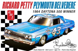 1/25 Richard Petty 1964 Plymouth Belvedere - AMT989