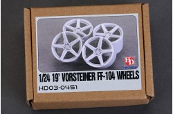 1/24 19 Vorsteiner FF-104 Wheels - HD03-0451