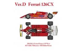 1/12 Full Detail Ferrari 126CK Ver. D - K640