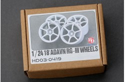 "1/24 18"" ADVAN RG-III Wheels - HD03-0419"