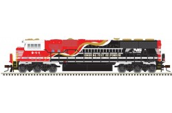 "N Scale SD60E Norfolk Southern ""HONORING FIRST RESPONDERS"" No.911 (Silver Series) - 40003962"
