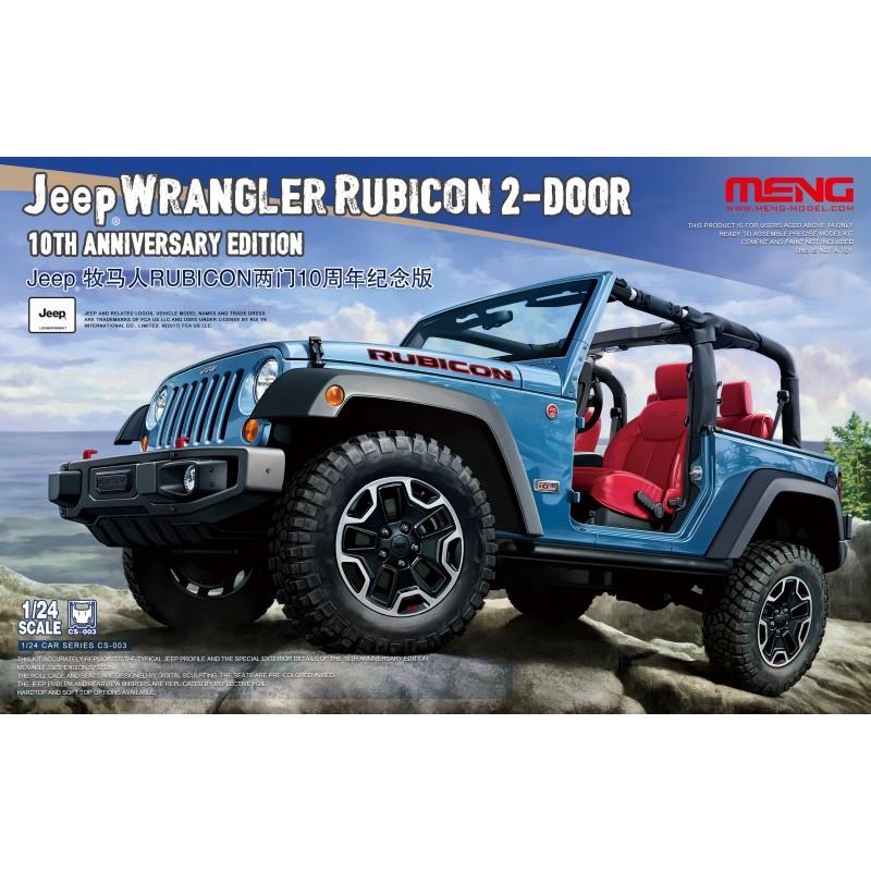 Meng 1 24 Jeep Wrangler Rubicon 2 Door Model Kit Cs003